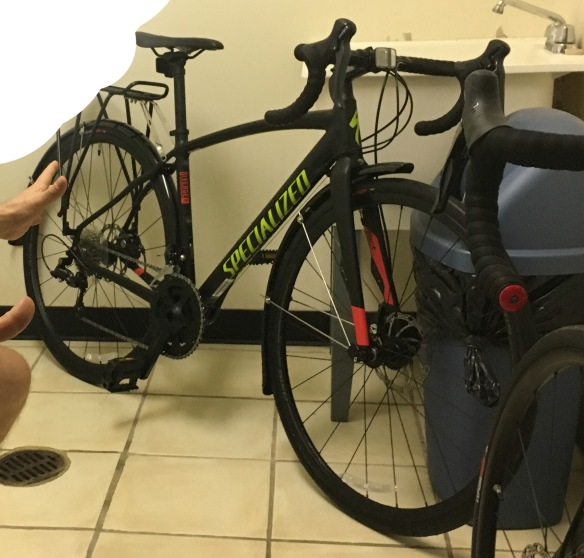 c944afcd259 TWO 2017 Specialized Diverge Sport A1, black, a little red and yellow logo,